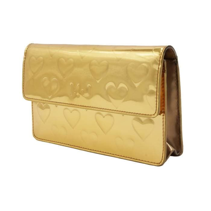 Pre-owned Marc Jacobs Gold Heart Crossbody Bag