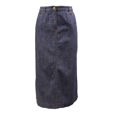 Pre-owned Boden Denim Midi Skirt