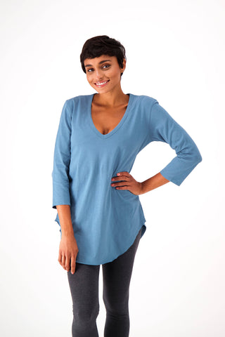 The Relaxed ¾ Sleeve V-neck