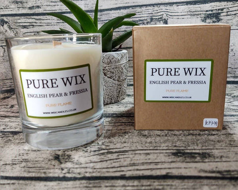 Large Pear & Freesia Eco Soy wax Candle