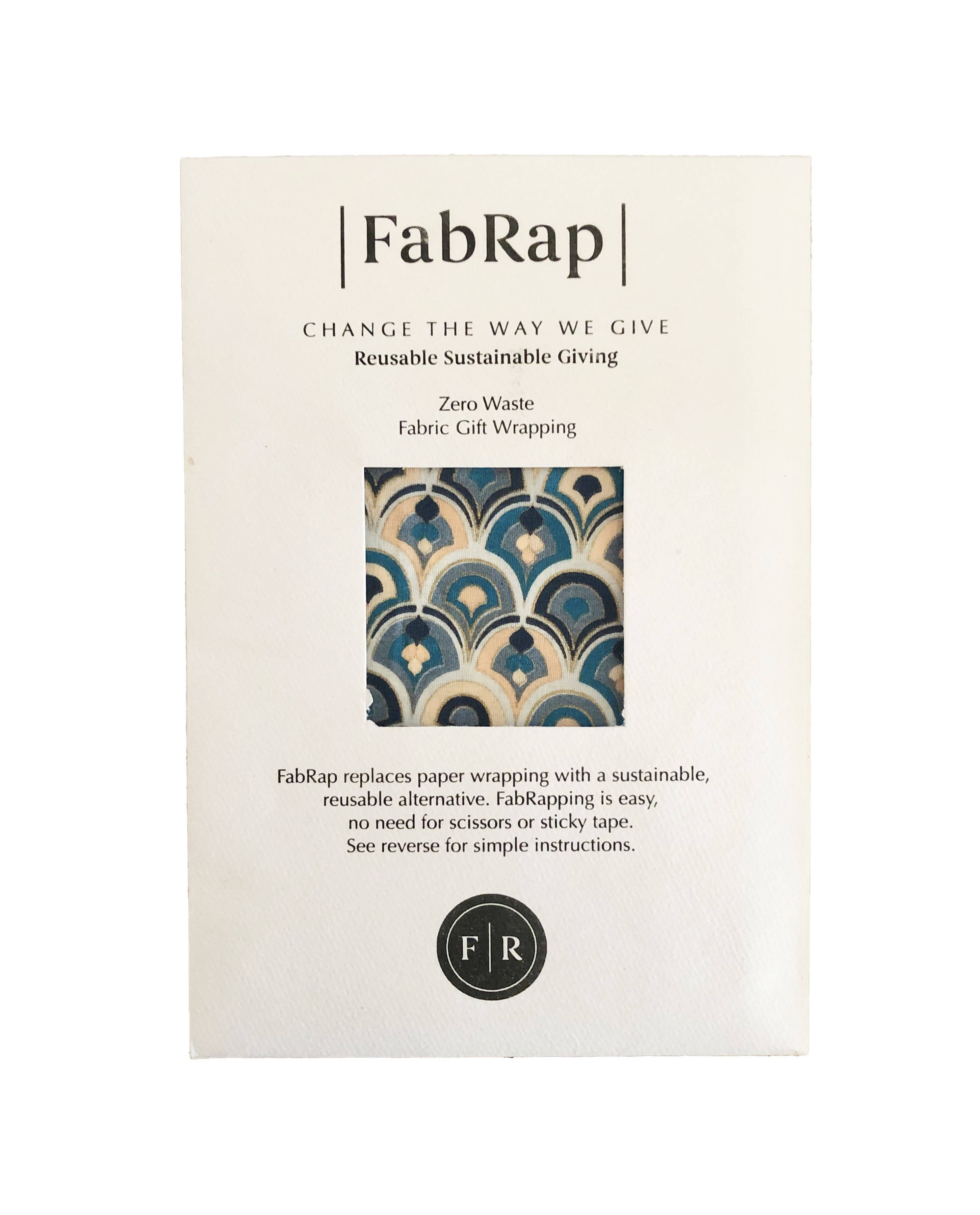 FabRap Reusable Gift Wrap - Art Deco
