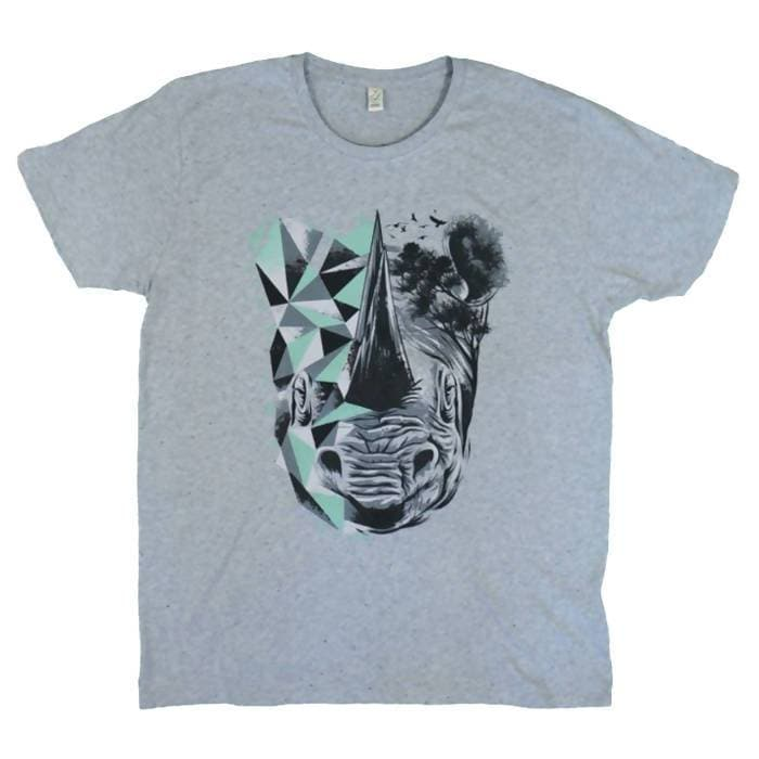 Organic Rhino Printed T-Shirt For Men