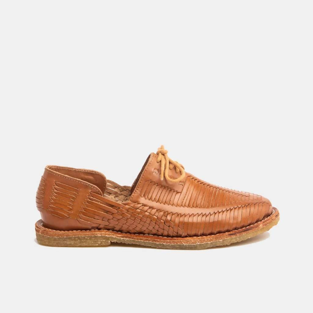CANO | Authentic Women's Huaraches - BENITO Natural Cognac
