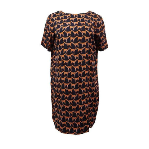 Pre-owned La Redoute Fox Print Shift Dress