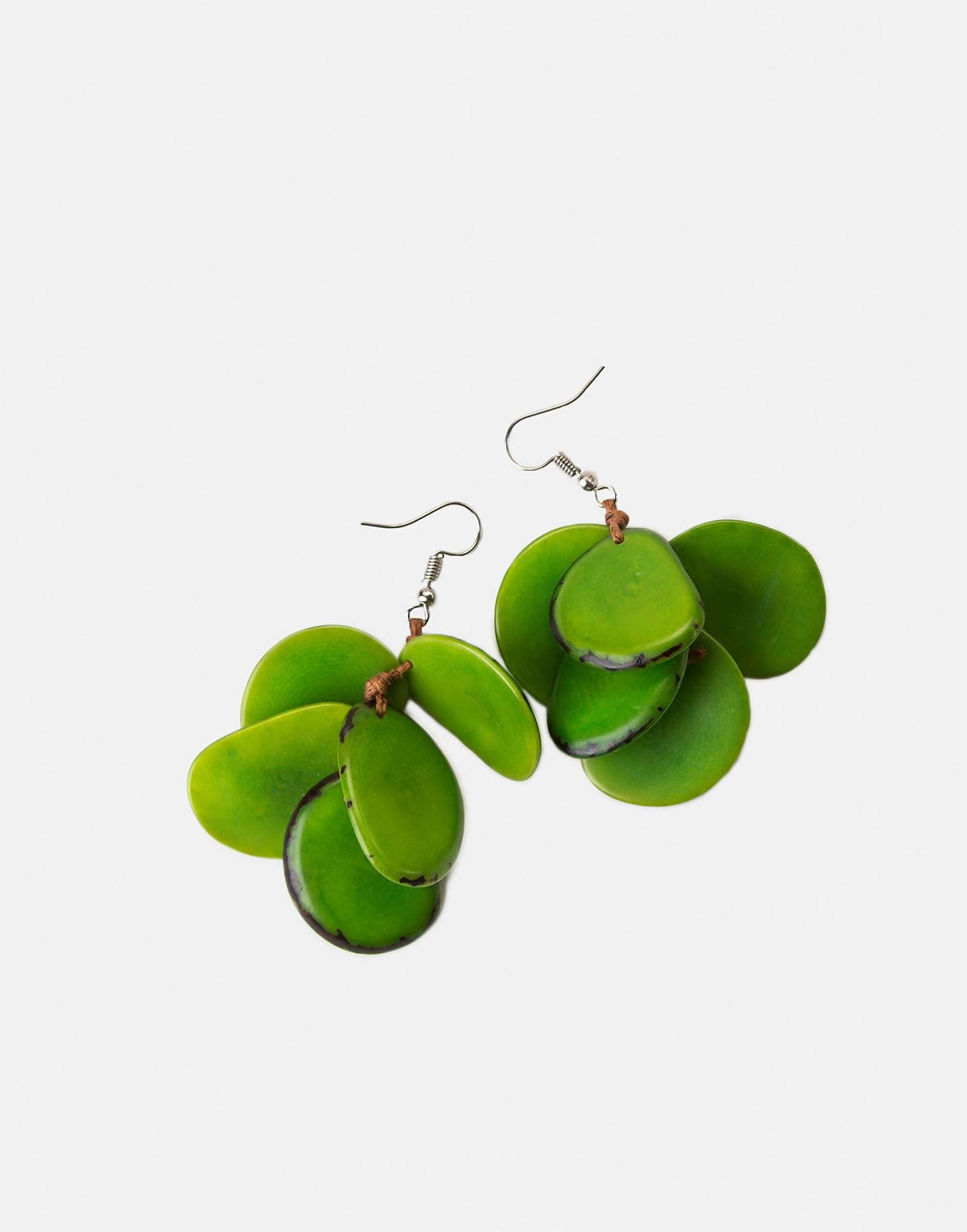 Bogota Tagua Bunch Earrings