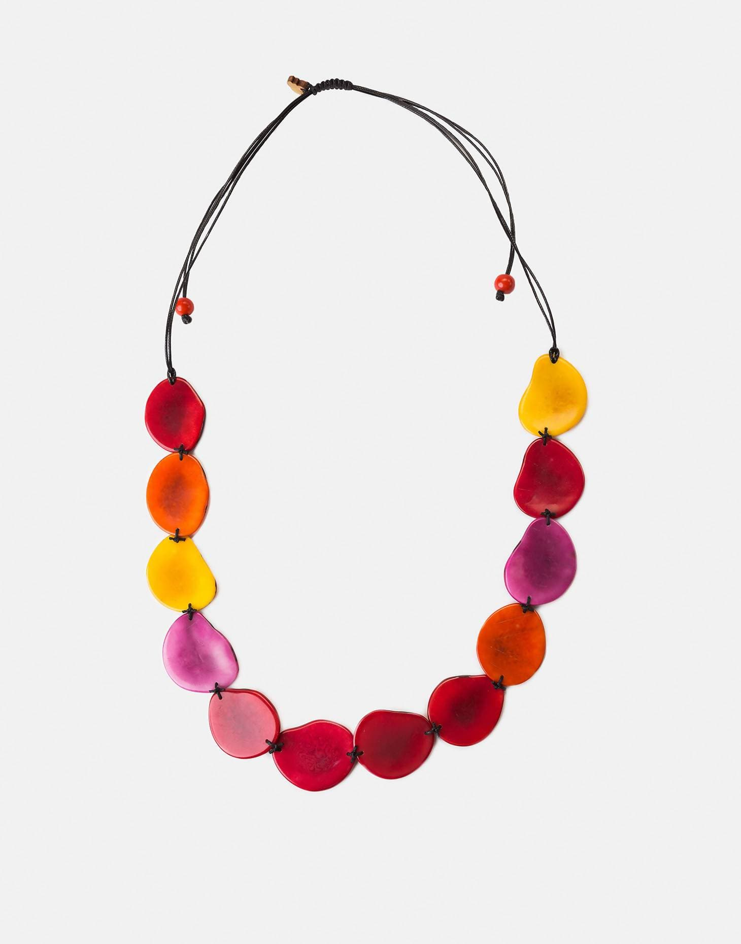Medellin Tagua Slice Adjustable Necklace
