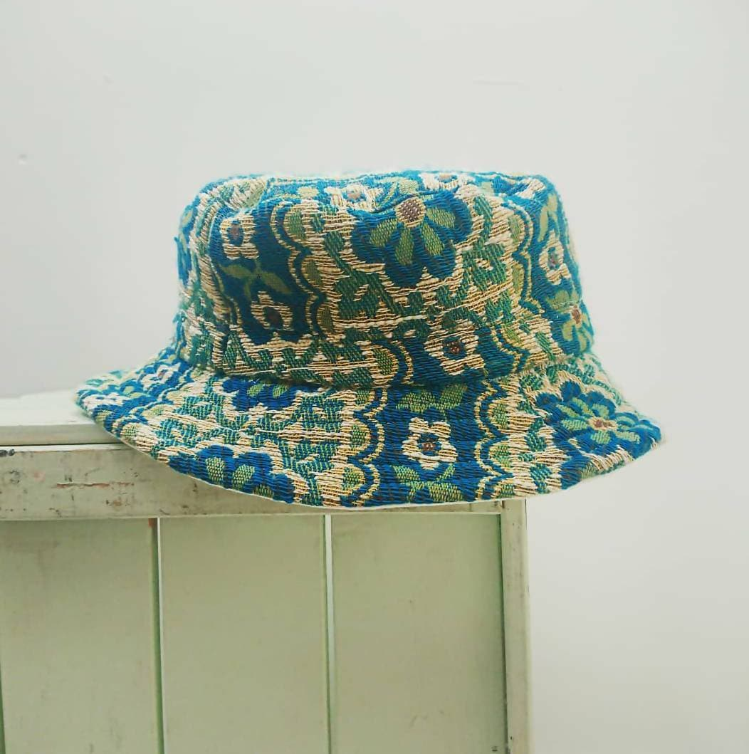 Bucket Hat- Vintage Reworked Fabric
