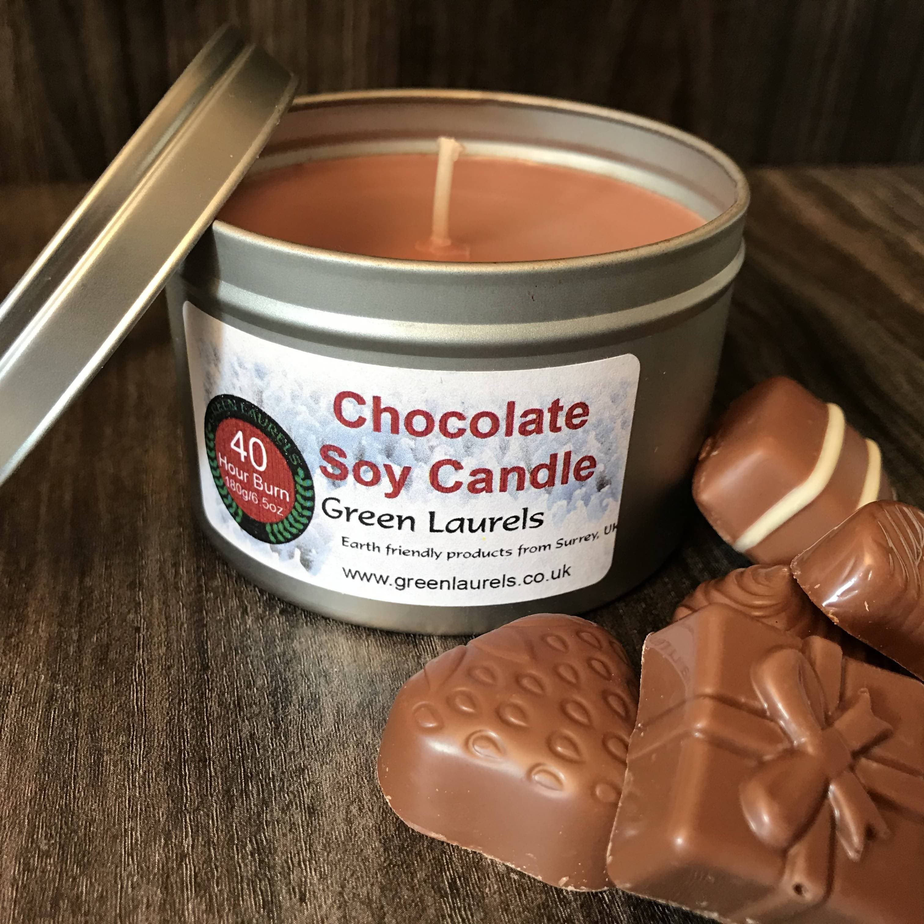 Chocolate scented Soy Wax Candle 180g