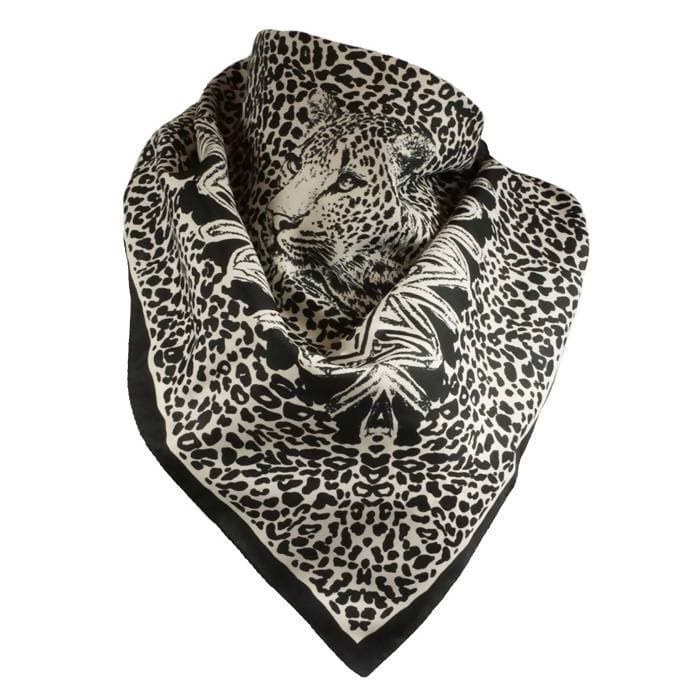Vintage Scarf With Leopard Face