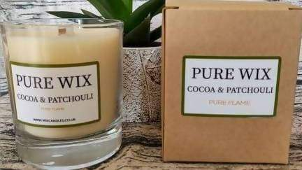 Medium Cocoa & Patchouli Eco Wax Candle