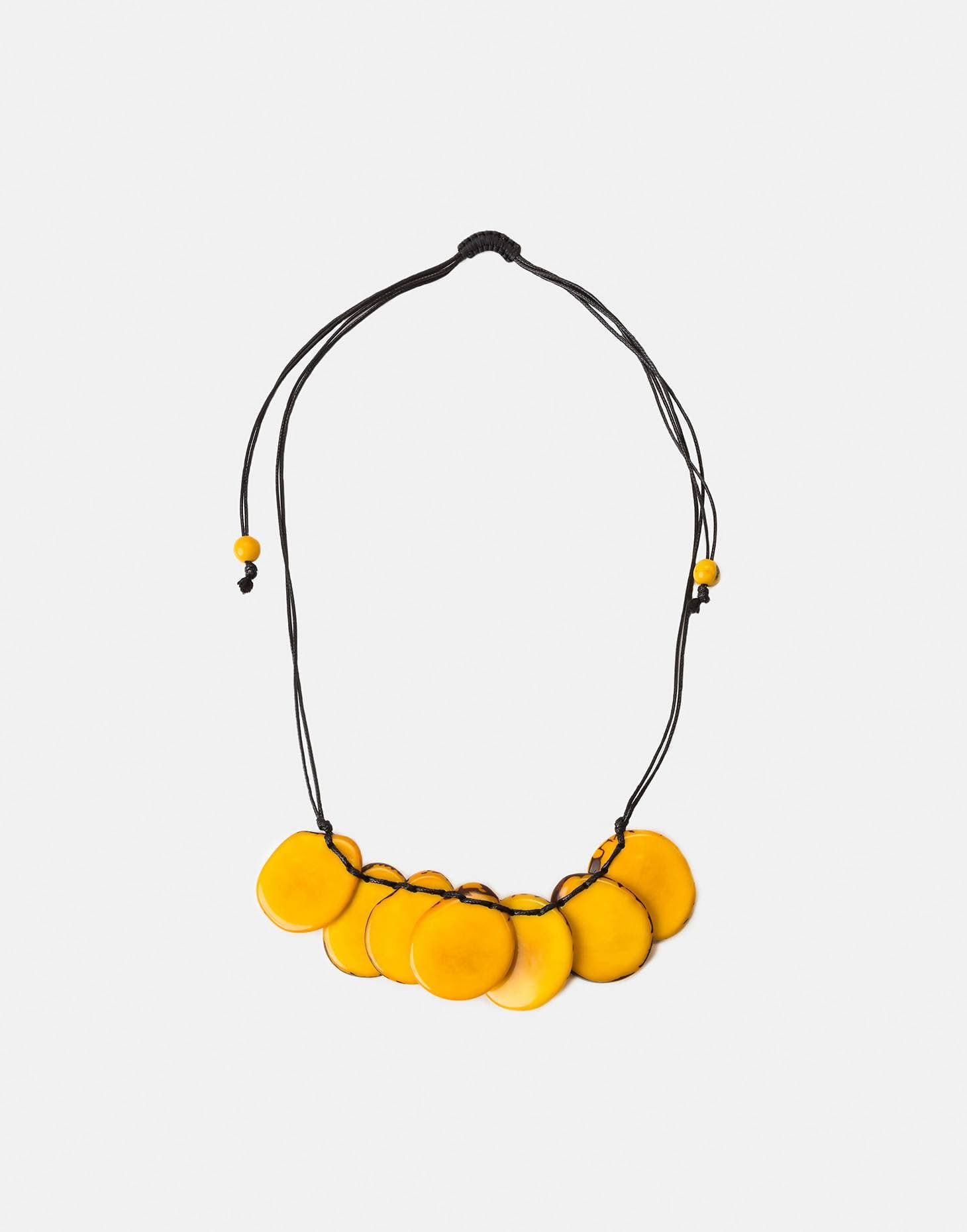 Bogota Tagua Slices Adjustable Necklace