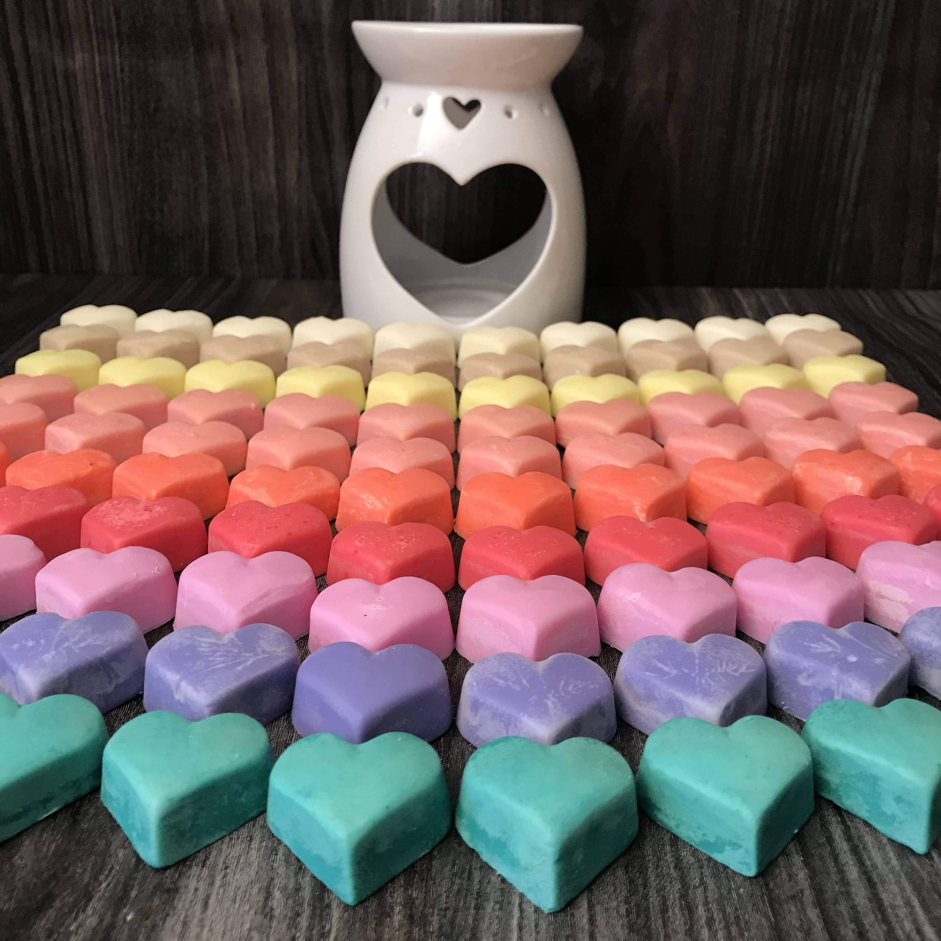 x10 Hand Poured Soy Wax Melts, with the burner included...