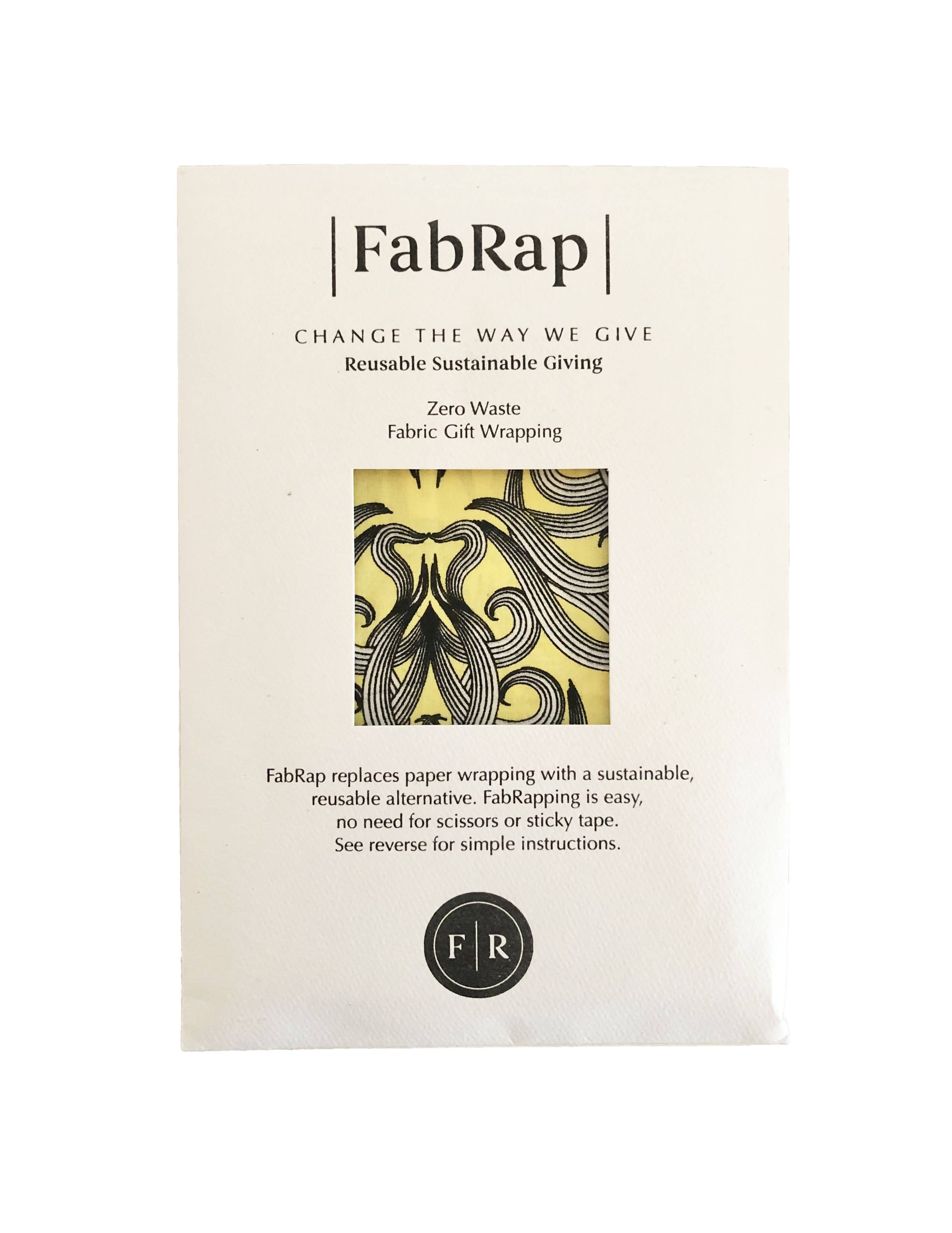 FabRap Reusable Gift Wrap - Sunshine Nouveau