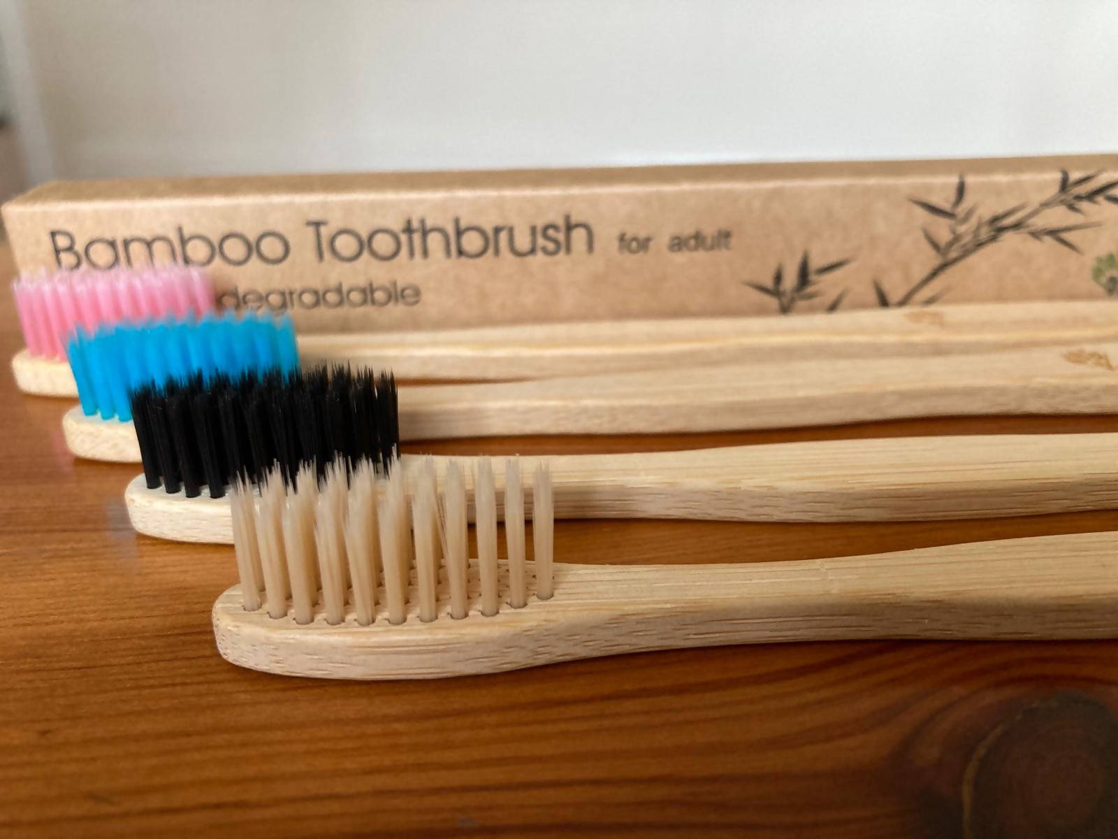 ADULTS Bamboo Toothbrush With Soft Bristle – Choose Colours