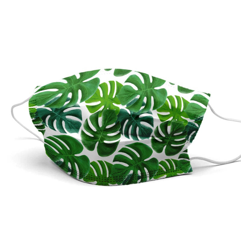 Green Leaves Style, Washable and Reusable Microflament Cloth Face Mask