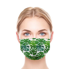 Load image into Gallery viewer, Green Leaves Style, Washable and Reusable Microflament Cloth Face Mask