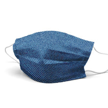 Load image into Gallery viewer, Dark Blue Jean Style, Washable and Reusable Microflament Cloth Face Mask