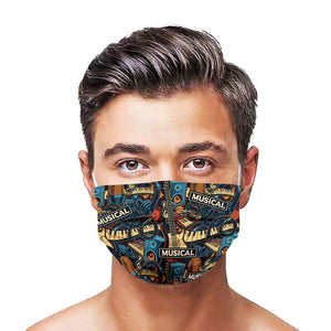 Musical Style, Washable and Reusable Microflament Cloth Face Mask