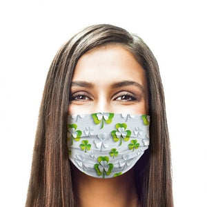 3D Clovers Style, Washable and Reusable Microflament Cloth Face Mask