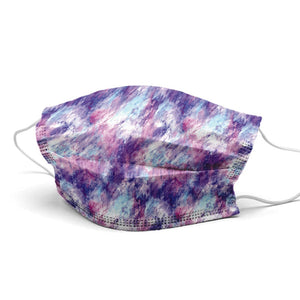 Purple Waves Style, Washable and Reusable Microflament Cloth Face Mask