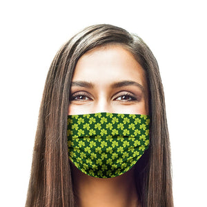 Green Clover Style, Washable and Reusable Microflament Cloth Face Mask