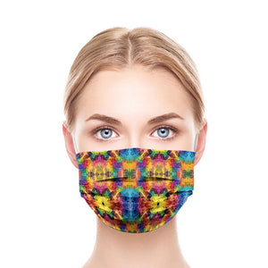 Mix Colors Style, Washable and Reusable Microflament Cloth Face Mask