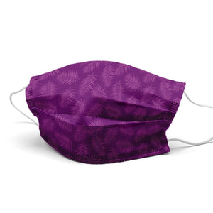 Purple Leaves Style, Washable and Reusable Microflament Cloth Face Mask