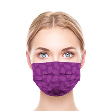 Load image into Gallery viewer, Purple Leaves Style, Washable and Reusable Microflament Cloth Face Mask