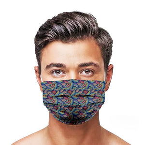 Leaves Style, Washable and Reusable Microflament Cloth Face Mask