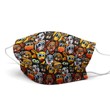 Load image into Gallery viewer, Happy Animals New Style, Washable and Reusable Microflament Cloth Face Mask