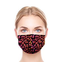 Load image into Gallery viewer, Black Hearts Style, Washable and Reusable Microflament Cloth Face Mask