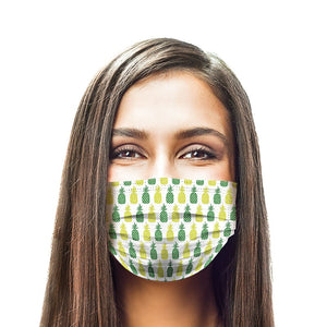 Pineapple Style, Washable and Reusable Microflament Cloth Face Mask