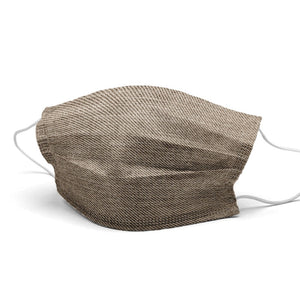 Light Brown Jean Style, Washable and Reusable Microflament Cloth Face Mask