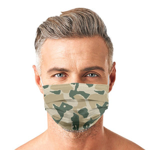 Camouflage Style, Washable and Reusable Microflament Cloth Face Mask