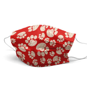 Red Paw Style, Washable and Reusable Microflament Cloth Face Mask