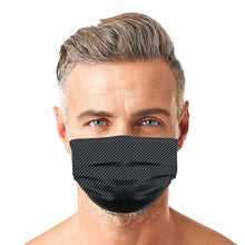 Load image into Gallery viewer, Black With Dots New Style, Washable and Reusable Microflament Cloth Face Mask