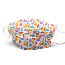 Load image into Gallery viewer, Litte Kittens New Style, Washable and Reusable Microflament Cloth Face Mask