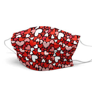 Hearts New Style, Washable and Reusable Microflament Cloth Face Mask
