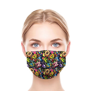 Letters New Style, Washable and Reusable Microflament Cloth Face Mask