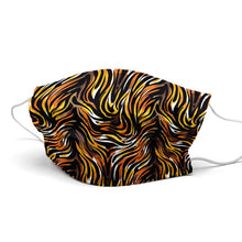 Load image into Gallery viewer, Tiger Style, Washable and Reusable Microflament Cloth Face Mask