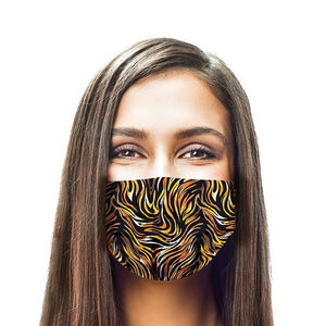 Tiger Style, Washable and Reusable Microflament Cloth Face Mask