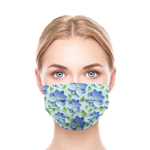 3D Flowers Style, Washable and Reusable Microflament Cloth Face Mask