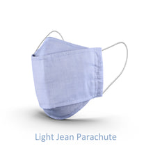 Load image into Gallery viewer, Circles Light Blue Jean Design Washable Cloth Mask With Pockets For Melt Blown Filters