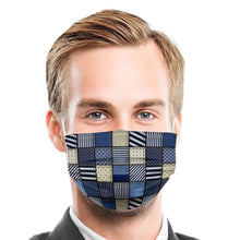 Load image into Gallery viewer, Jean Patch Style, Washable and Reusable Microflament Cloth Face Mask