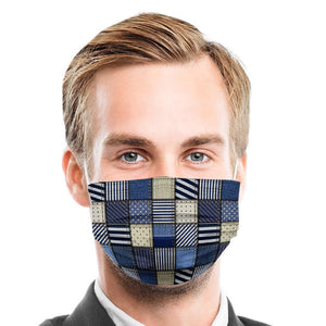Jean Patch Style, Washable and Reusable Microflament Cloth Face Mask