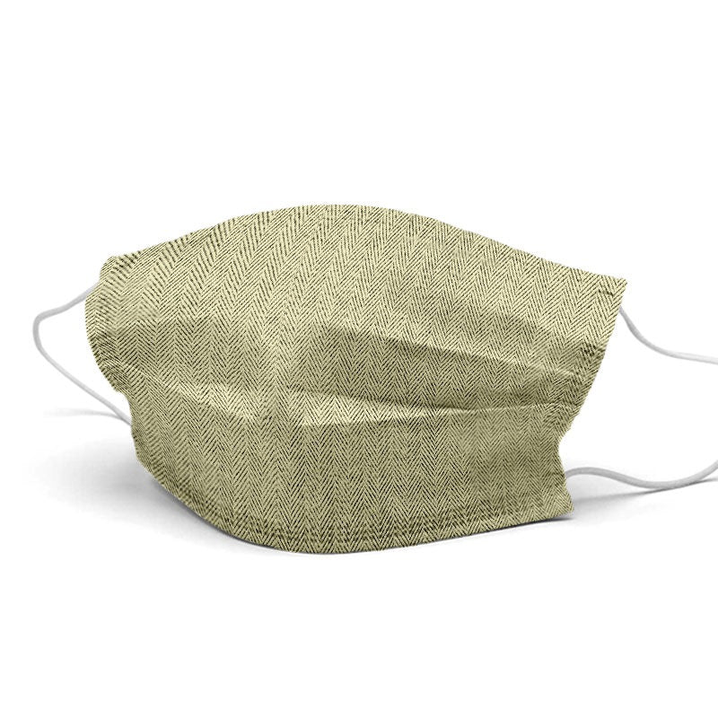 Mustard Linen Style, Washable and Reusable Microflament Cloth Face Mask