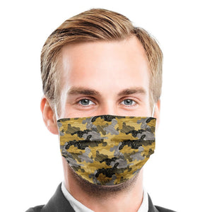 S Camouflage Style, Washable and Reusable Microflament Cloth Face Mask