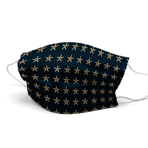 Stars With Dots Style, Washable and Reusable Microflament Cloth Face Mask