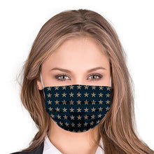 Load image into Gallery viewer, Stars With Dots Style, Washable and Reusable Microflament Cloth Face Mask
