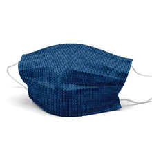 Load image into Gallery viewer, Dark Blue Wool Style, Washable and Reusable Microflament Cloth Face